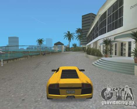 2005 Lamborghini Murcielago для GTA Vice City вид сзади слева