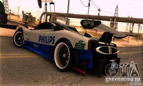 Pagani Zonda R для GTA San Andreas салон