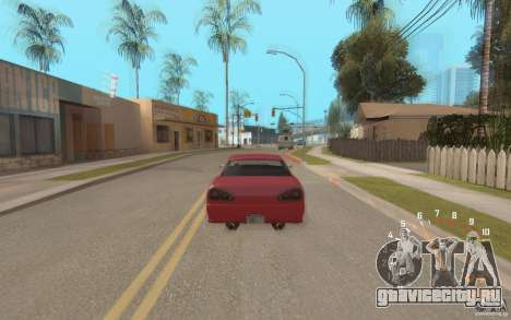 Digital speedometer and tachometer для GTA San Andreas третий скриншот