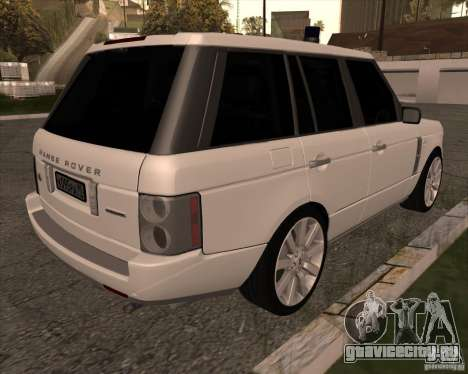 Land Rover Range Rover Supercharged для GTA San Andreas вид сзади слева