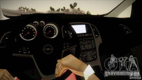Opel Astra 2010 для GTA San Andreas вид изнутри