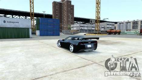 Chevrolet Corvette C6 Convertible v1.0 для GTA 4 вид сверху