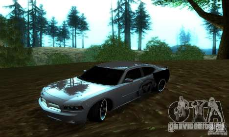 Dodge Charger SRT8 Mopar для GTA San Andreas вид сзади