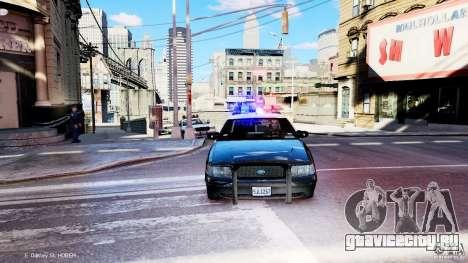 CVPI LCPD San Diego Police Department для GTA 4 вид сзади
