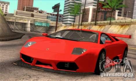 Lamborghini Murcielago R-SV GT1 для GTA San Andreas вид изнутри