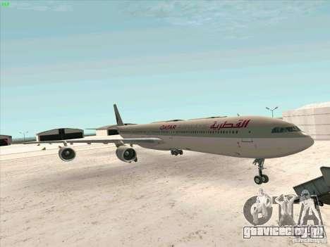 Airbus A-340-600 Quatar для GTA San Andreas