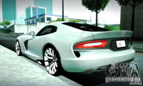 Dodge Viper SRT  GTS для GTA San Andreas вид сбоку