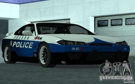 Nissan Silvia S15 Police для GTA San Andreas вид справа