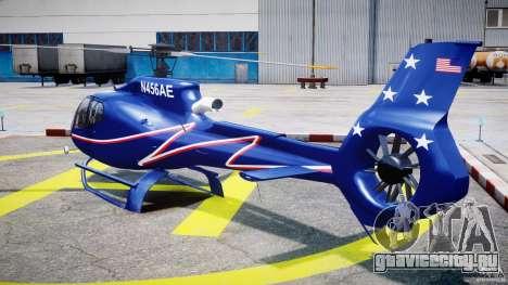 Eurocopter EC130B4 NYC HeliTours REAL для GTA 4 вид сзади слева