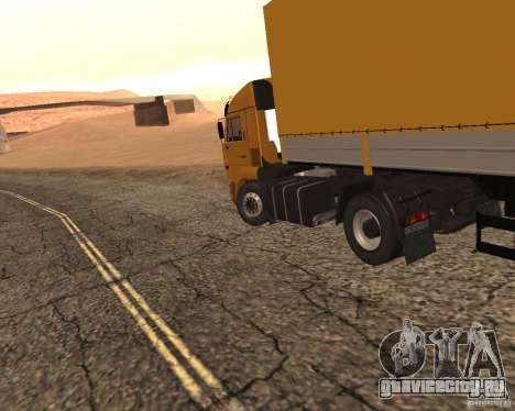 KamAZ 5460 Дальнобойщики 2 для GTA San Andreas вид сзади слева