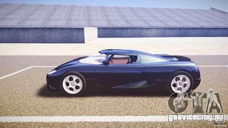 Koenigsegg CC8S 2002 для GTA 4 вид изнутри