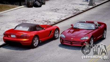 Dodge Viper SRT-10 2003 1.0 для GTA 4 вид сбоку