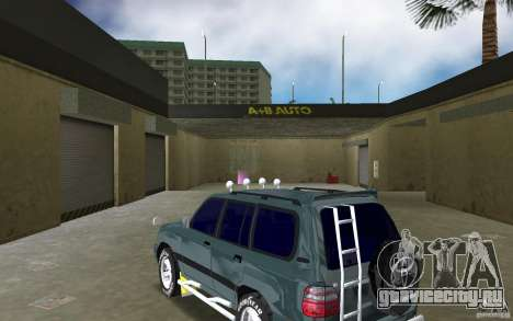 Toyota Land Cruiser 100 для GTA Vice City вид сзади слева