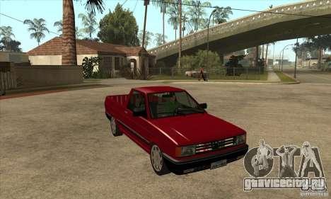 VW Saveiro GL 1989 для GTA San Andreas вид сзади