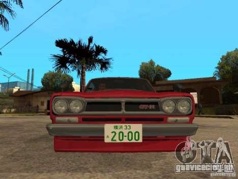 Nissan Skyline 2000 GT-R для GTA San Andreas вид справа