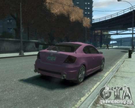 Toyota Scion Tc 2.4 для GTA 4 вид справа