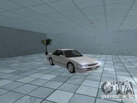 Nissan Silvia PS13 для GTA San Andreas вид изнутри