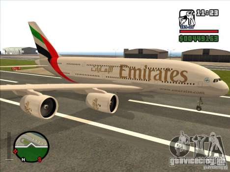 Boeing Emirates Airlines для GTA San Andreas