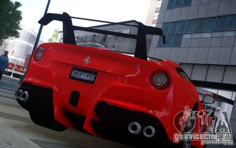 Ferrari F12 Berlinetta 2013 Knoxville Edition для GTA 4 вид сзади слева