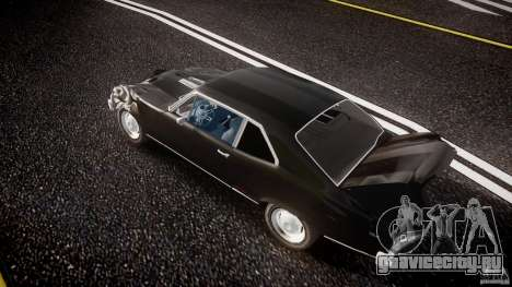 Chevrolet Nova 1969 для GTA 4 вид снизу