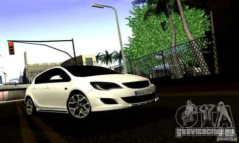 Opel Astra Senner для GTA San Andreas вид изнутри