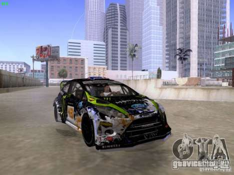 Ken Block Ford Fiesta 2012 для GTA San Andreas вид справа