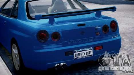 Nissan Skyline GT-R 34 V-Spec для GTA 4