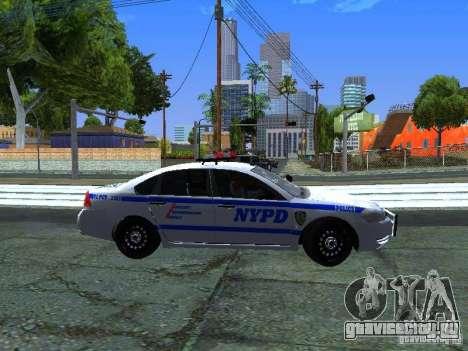 Chevrolet Impala NYPD для GTA San Andreas вид изнутри
