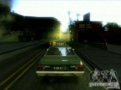 Такси из dri3r для GTA San Andreas вид сзади слева