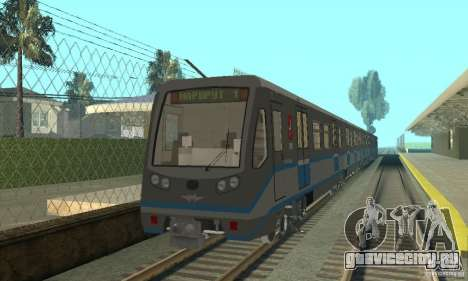 Русич 4 train для GTA San Andreas вид слева