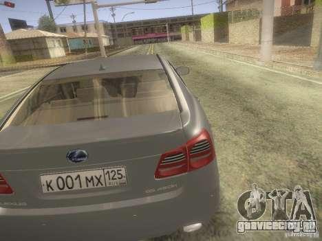 Lexus GS450H для GTA San Andreas вид сзади слева