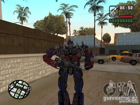 Optimus Prime для GTA San Andreas четвёртый скриншот