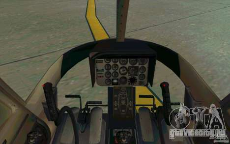 Bell 206 B Police texture2 для GTA San Andreas вид изнутри