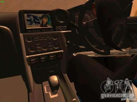 Nissan GT-R SpecV Black Revel для GTA San Andreas вид сбоку