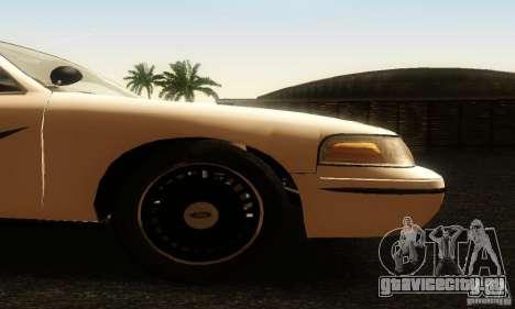 Ford Crown Victoria Washington Police для GTA San Andreas вид справа