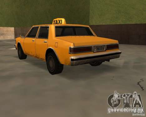 LV Taxi для GTA San Andreas вид слева