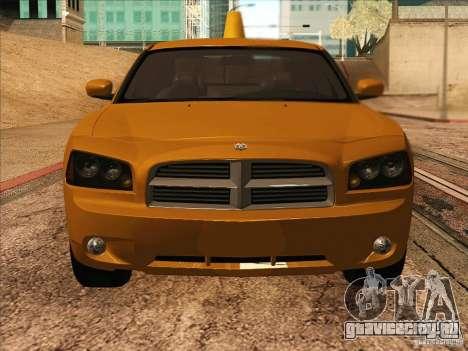 Dodge Charger STR8 Taxi для GTA San Andreas вид сзади