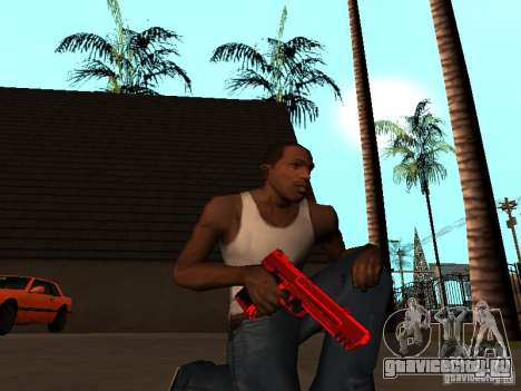 Red Chrome Weapon Pack для GTA San Andreas пятый скриншот