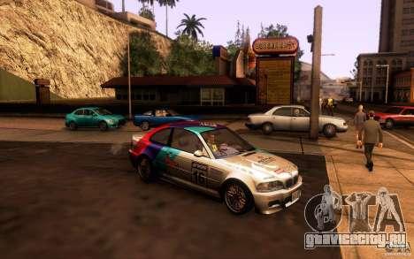 BMW M3 E46 для GTA San Andreas салон
