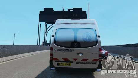 Mercedes-Benz Sprinter-Identification Criminelle для GTA 4 вид сзади