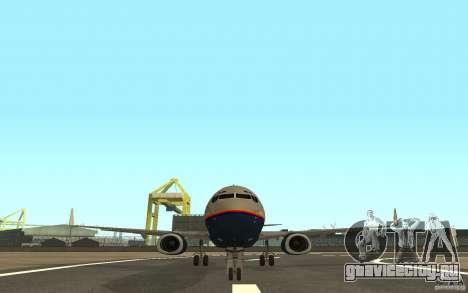 Boeing 737-800 для GTA San Andreas вид сзади слева