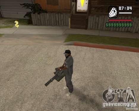 Hand Held M134 Minigun для GTA San Andreas