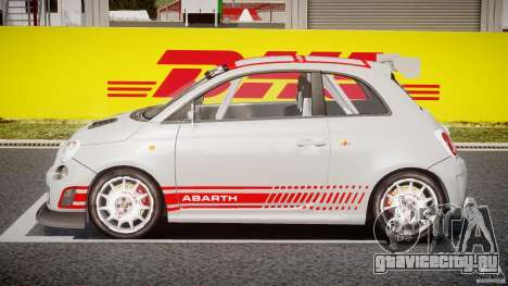 Fiat 500 Abarth для GTA 4 вид изнутри