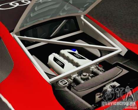 Audi R8 LMS v2.0.1 для GTA San Andreas вид сверху