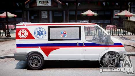 Ford Transit Polish Ambulance [ELS] для GTA 4 вид сзади