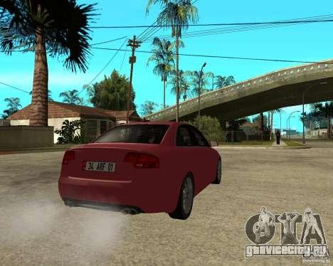 Audi S4 tunable для GTA San Andreas вид сзади слева