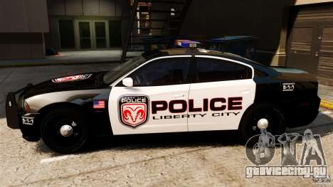 Dodge Charger RT Max Police 2011 [ELS] для GTA 4 вид слева