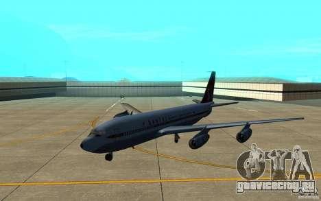 Qantas 707B для GTA San Andreas вид слева