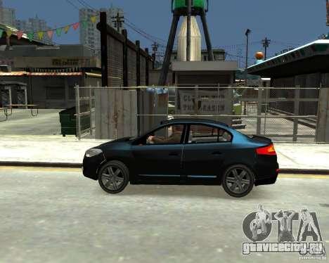 Renault Fluence для GTA 4 вид слева
