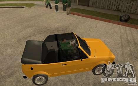 Volkswagen Golf MK1 Cabrio для GTA San Andreas вид справа